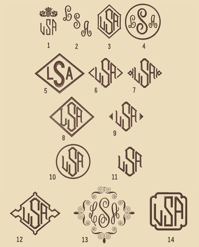 monogram style